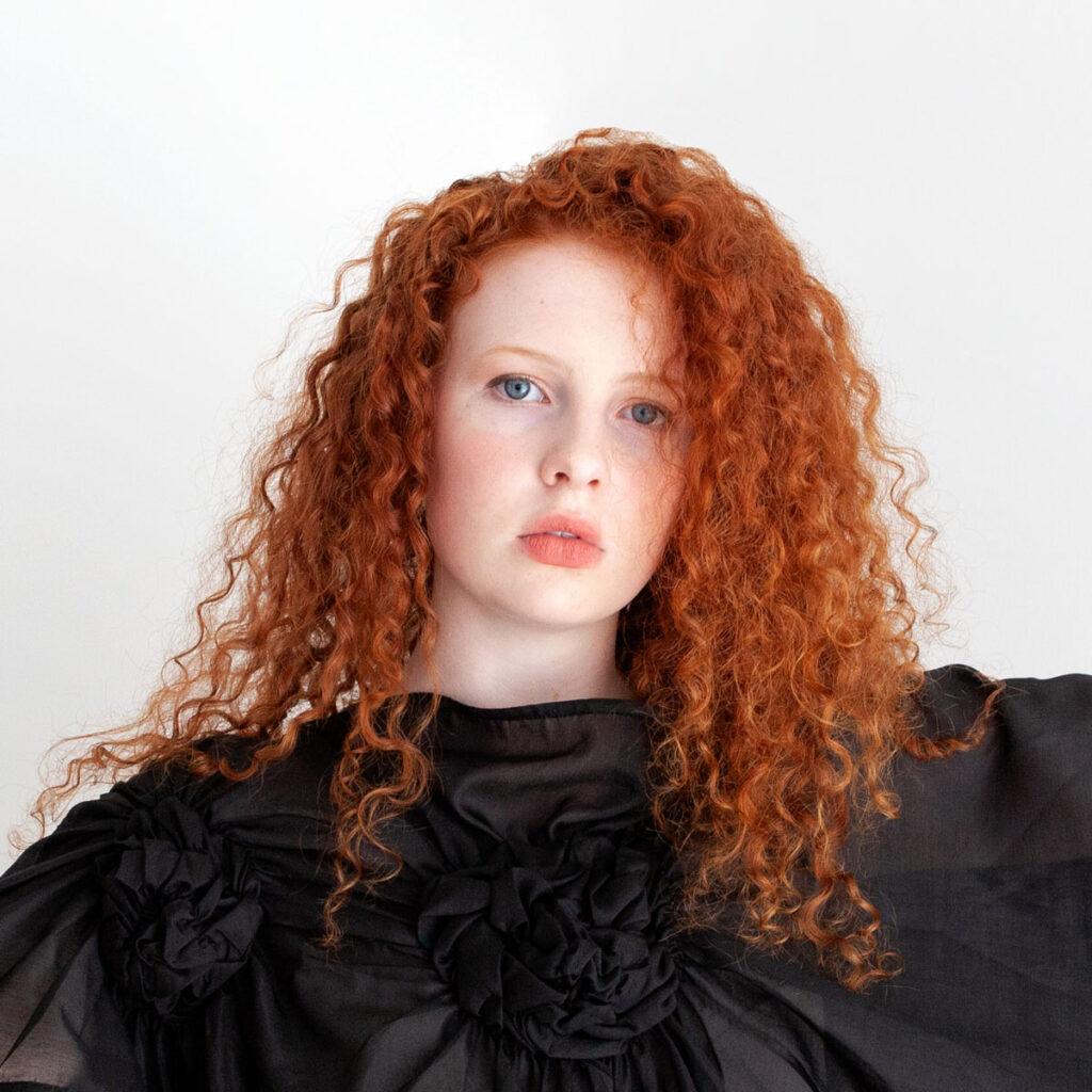 Fashion model red hair